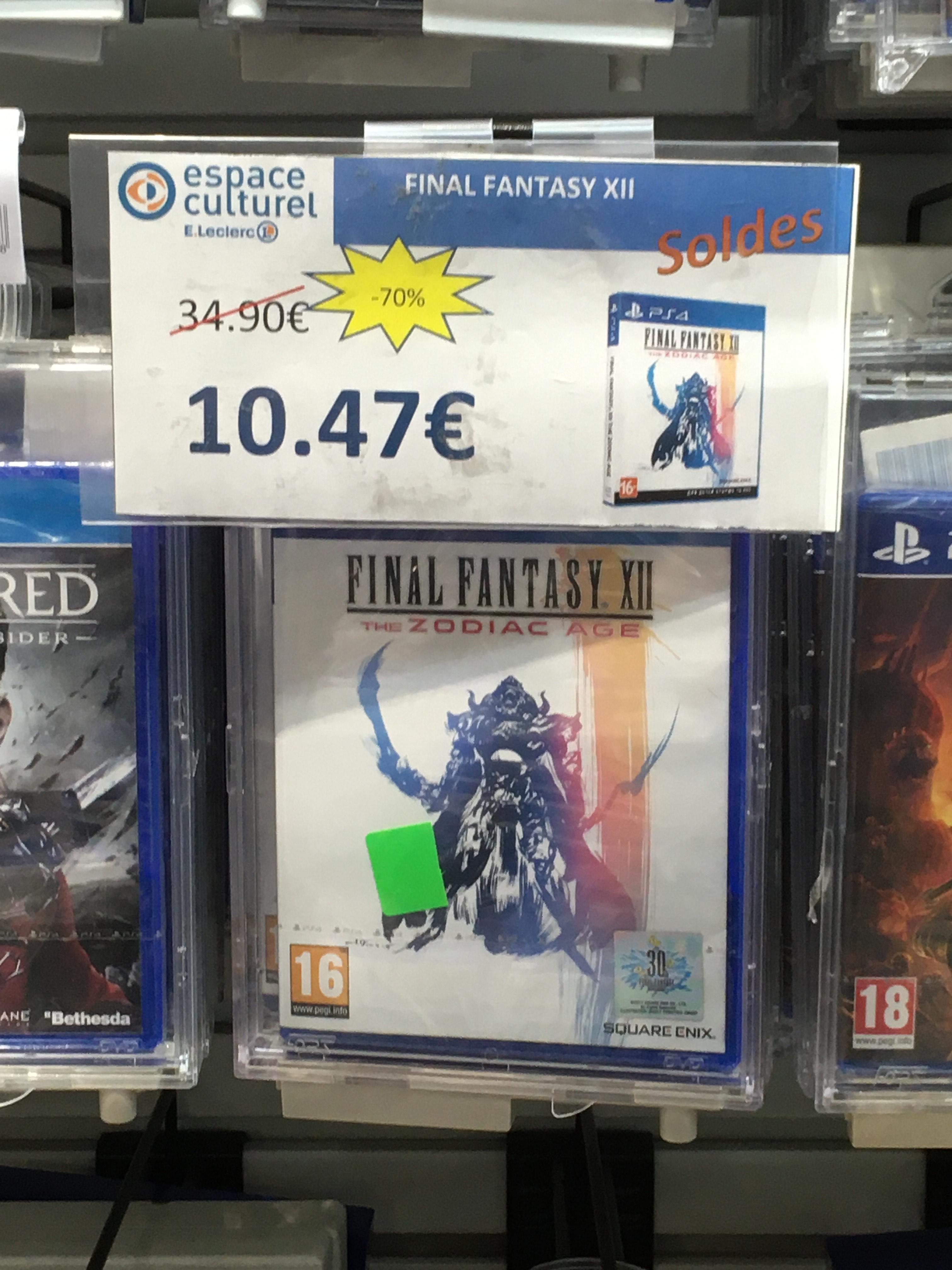 Sélection de jeux en promotion - Ex : Final Fantasy XII sur PS4 (Geispolsheim - 67)
