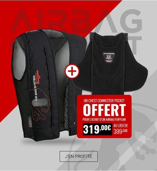 Gilet Fury Airbag System Furygan - Noir + Chest Connector Pocket