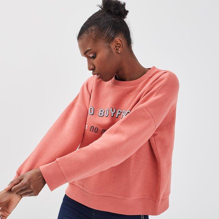 Sélection d'articles en promotion (10% supplémentaires dès 2 articles achetés) - Ex : sweat-shirt à col rond Terracotta (du XS au XL)