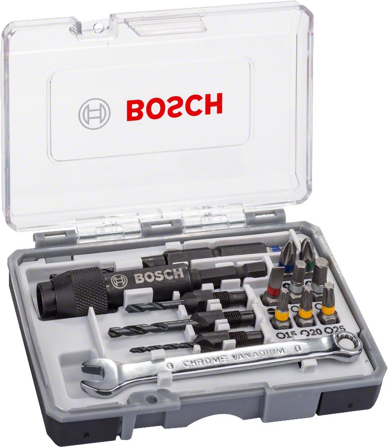 Coffret d'embouts de pré-perçage / perçage / vissage Bosch - 20 pièces