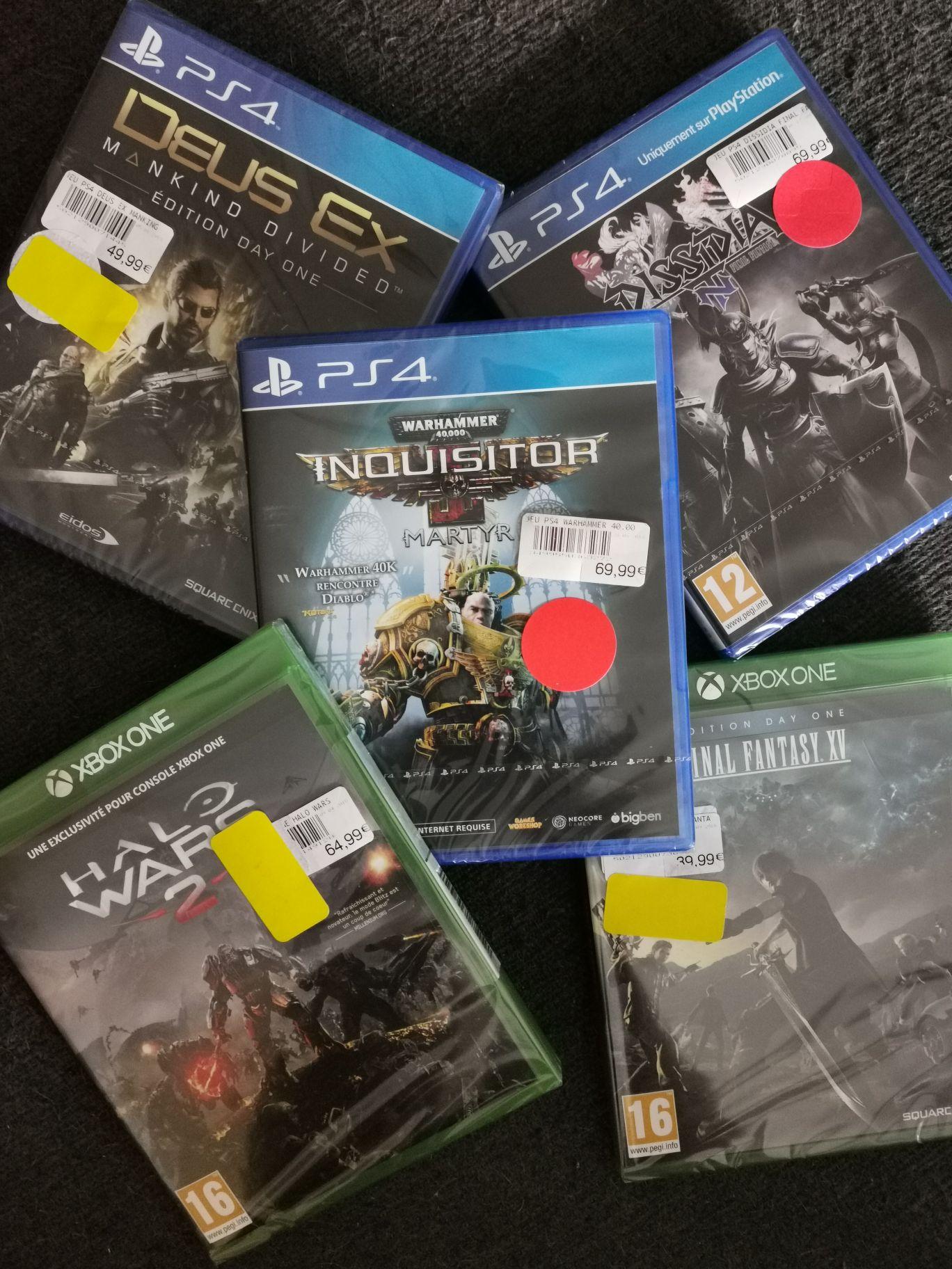 Sélection de Jeux vidéo en promotion sur PS4 et Xbox One - Dornach Mulhouse (68)