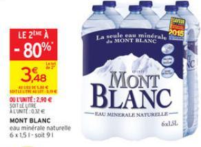 2 packs eau minérale Mont Blanc (via Shopmium)