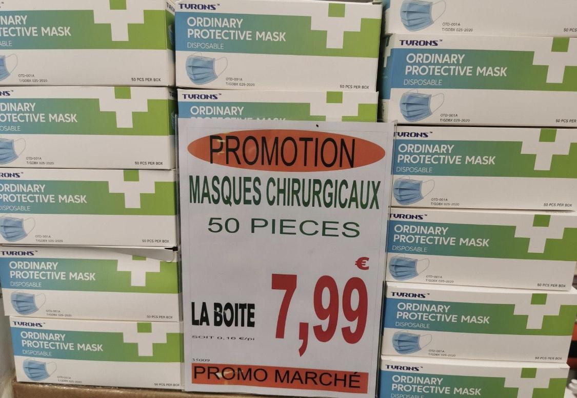 50 masques - Promo Marché Reims (51)