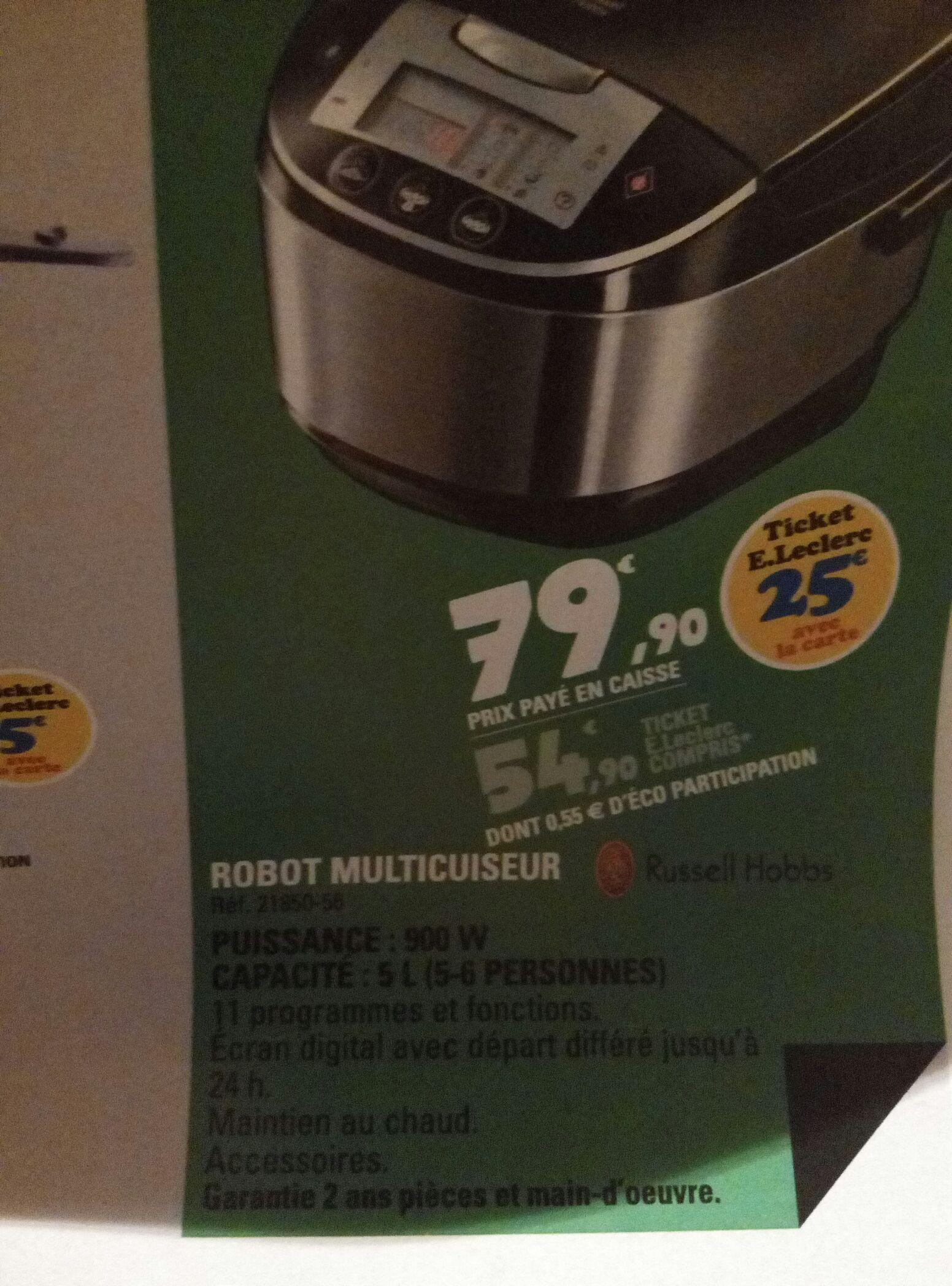 Robot multicuiseur Russell Hobbs (avec 25€ en ticket Leclerc)