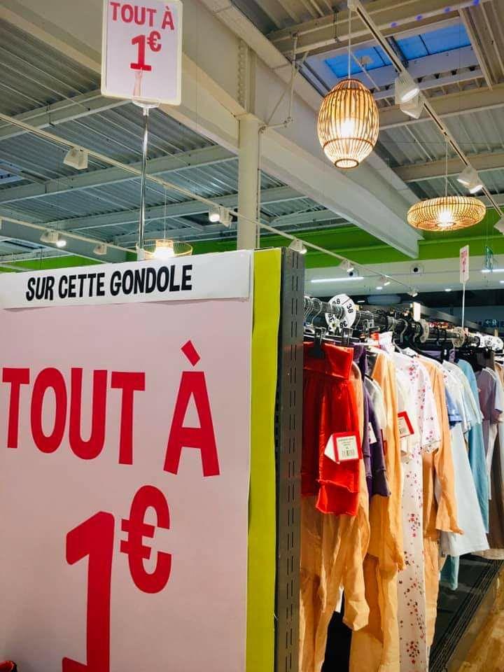 Sélection d'articles textiles pour homme, femme, enfant à 1€ - Mios (33)