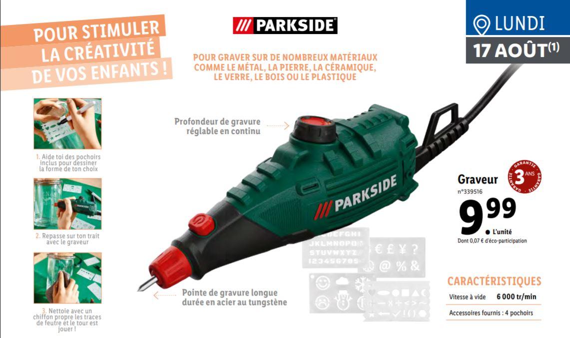 Graveur multi-fonctions ParkSide - 6000 trs/min, avec 4 pochoirs