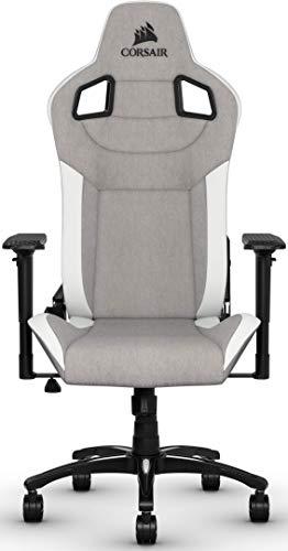 Chaise de bureau / gaming Corsair T3 Rush - Gris Blanc