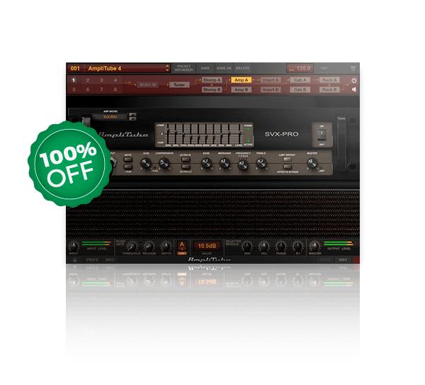 Plugin audio IK Multimedia AmpliTube SVX gratuit (dématérialisé) - AudioPlugin.deals