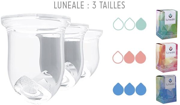 Coupe menstruelle Lunéale - taille S, M, L (luneale.co)