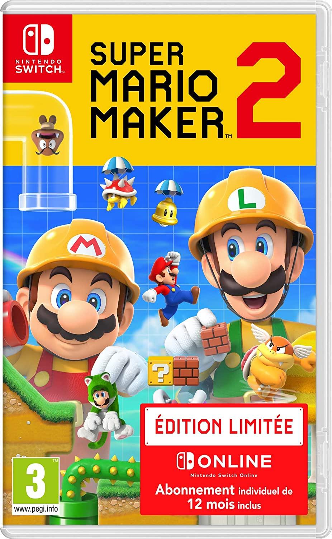 Jeu Super Mario Maker 2 sur Nintendo Switch - édition limitée + 12 mois d'abonnement Nintendo Online