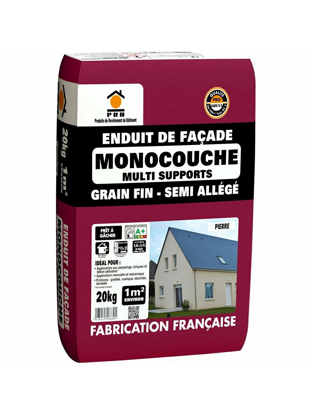 Enduit monocouche ton pierre PRB - 20.081kg - Vendin-le-Vieil - Lens (62)