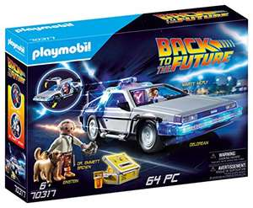 Jouet Playmobil Back To The Future Delorean 70317