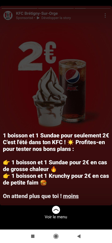 1 boisson + 1 Sundae ou 1 Krunchy - Brétigny-sur-Orge (91)
