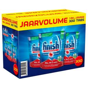 Lot de 3 packs de 100 tablettes Finish Powerball All in One Max (Frontaliers Belgique)