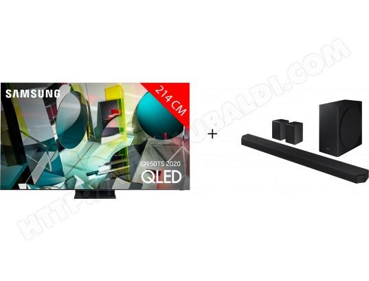 "TV 85"" Samsung QE85Q950TS 8K + Barre de son HW-Q950TTV (via ODR de 1000€)"
