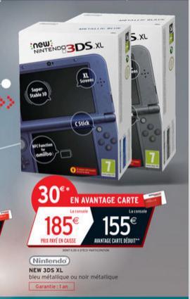 Sélection d'articles en promotion - Ex : Console Nintendo New 3DS XL (via 30€ fidélité)
