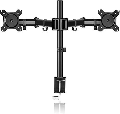 Support SIMBR pour 2 Moniteurs de 13''-27'', Hauteur Ajustable, Rotatif, Inclinable, Pivotable, Charge Max/Bras de 8kg, VESA (Vendeur tiers)