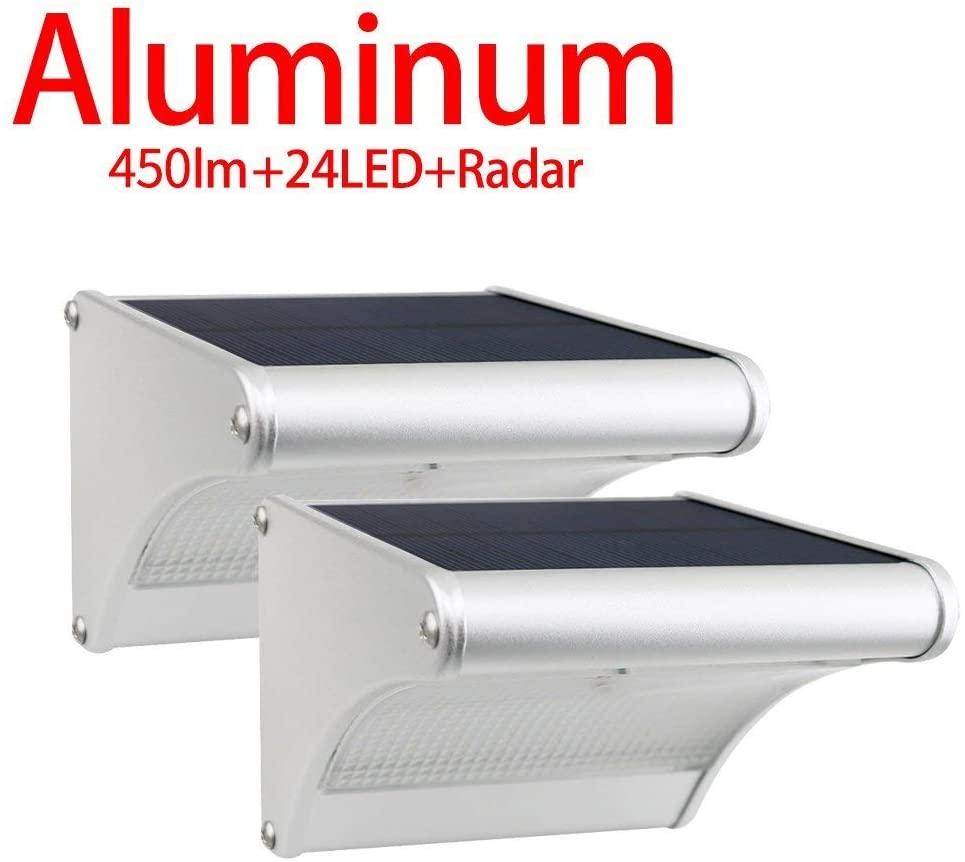 2 Lampes solaires murales d'extérieur Licwshi - 24 LED (Vendeur Tiers)
