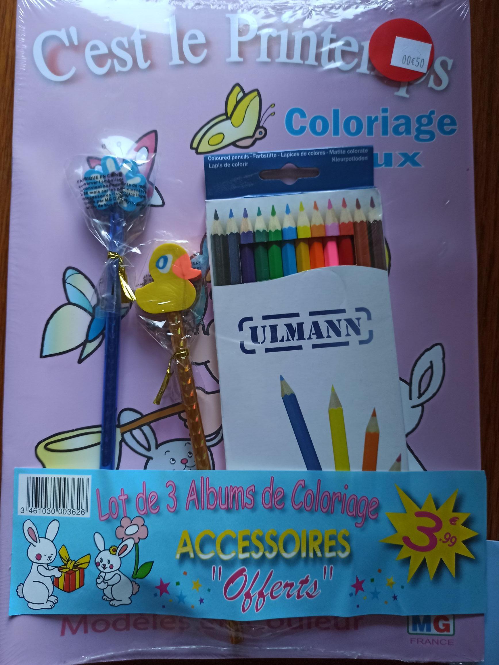 Lot de 3 albums de coloriage + accessoires - Lorient (56)