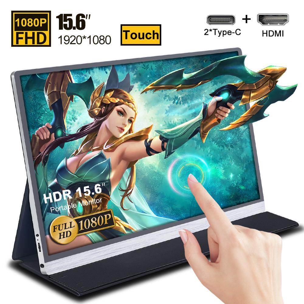 "Écran d'affichage tactile portable 15.6"" Xian Wei - full HD, port HDMI + 2 ports USB type-C"