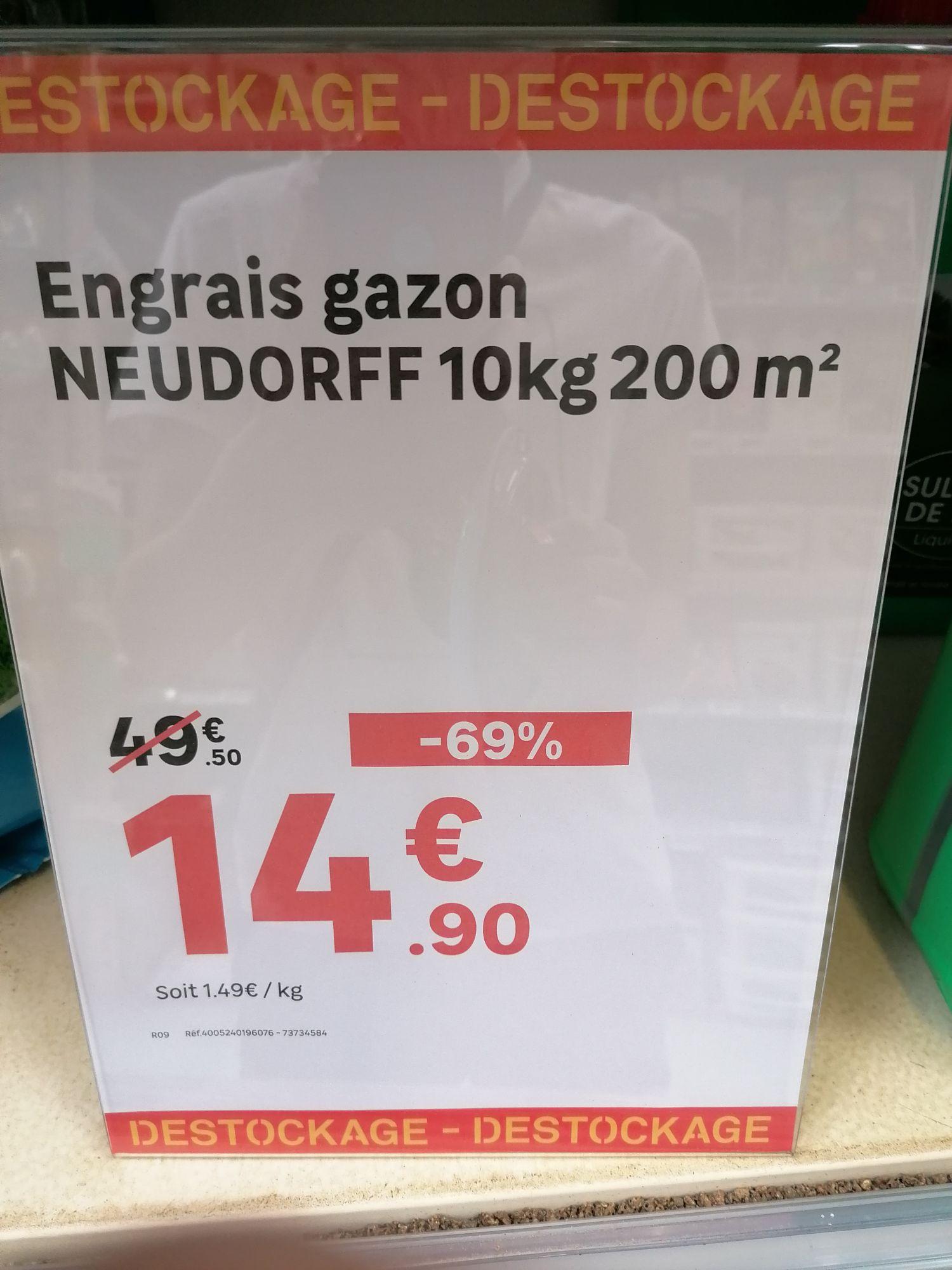 Engrais gazon Neudorff - 10Kg - Hautmont (59)