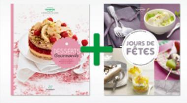 Livres de recettes Thermomix : Desserts Gourmands et Jours de fêtes