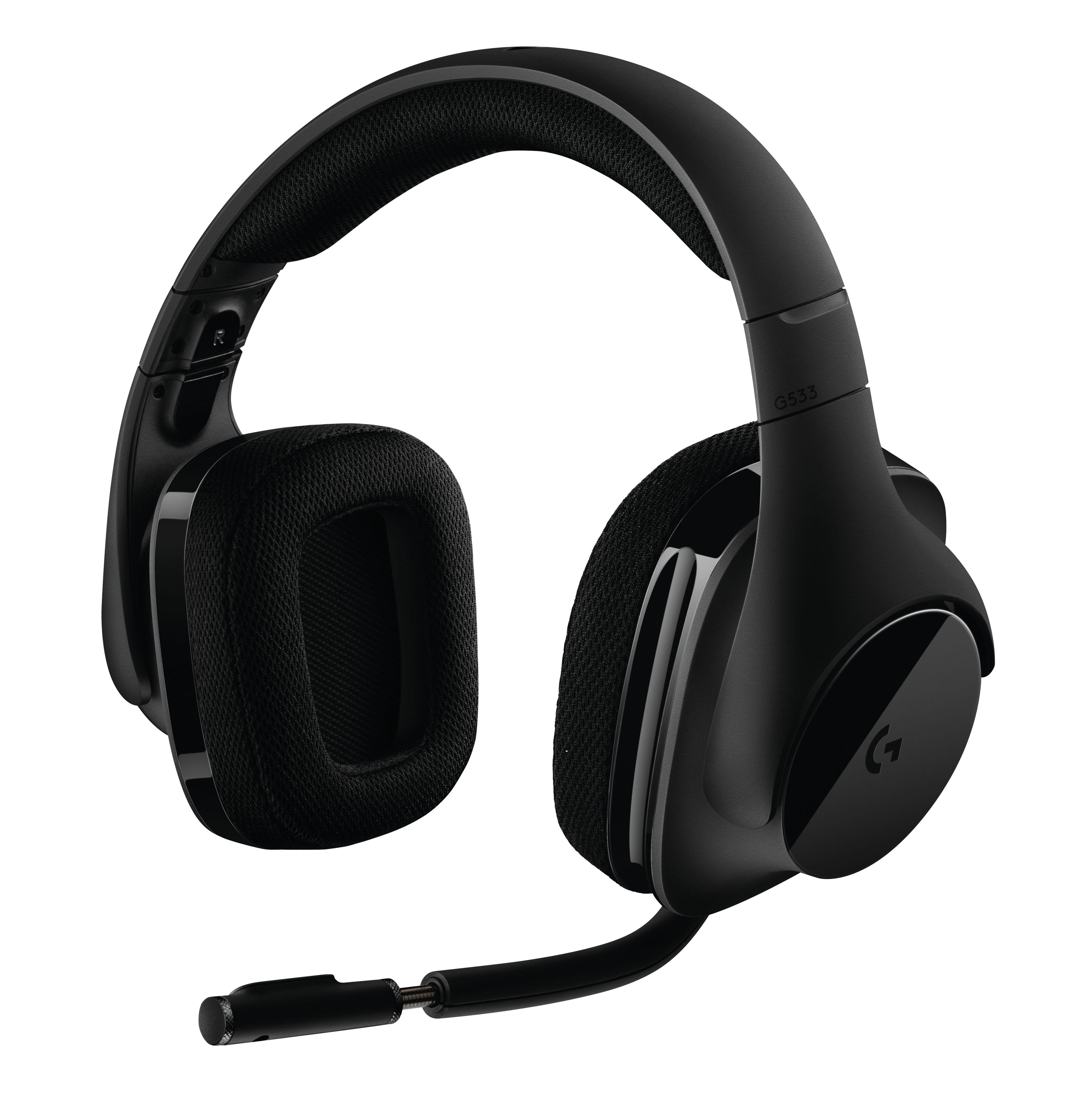 Casque-micro gamer sans fil Logitech G533 - Son Surround 7.1 DTS Headphone, Noir