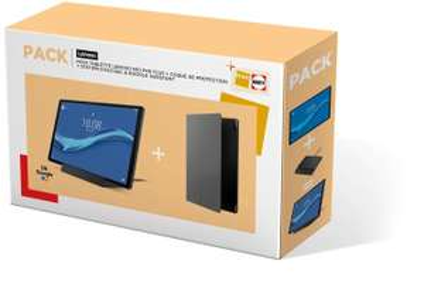 "Tablette tactile 10.3"" Lenovo Tab M10+ - Full HD, Helio P22T, 4 Go de RAM, 128 Go + Station d'accueil + Folio (Vendeur Darty)"