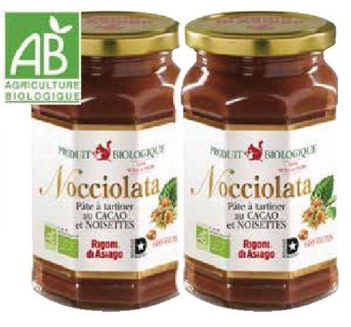 Lot de 2 pots de pâte à tartiner Bio Nocciolata - 2 x 350g