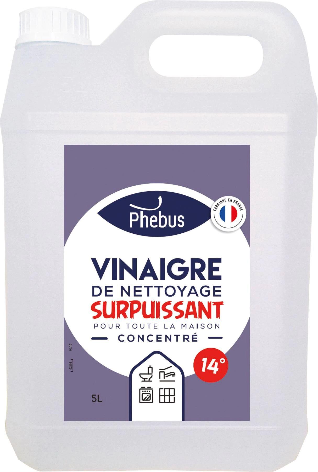 Bidon de vinaigre de nettoyage surpuissant Phebus 14° - 5 L