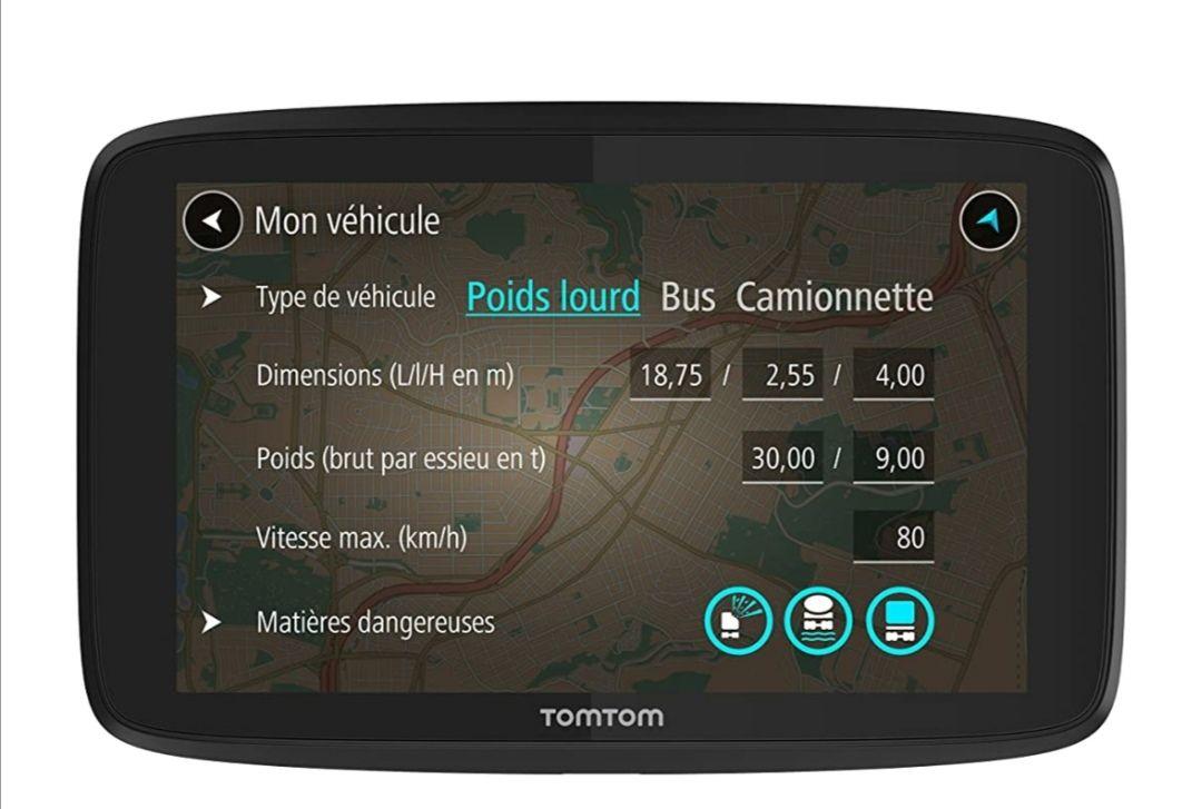 GPS Tomtom GO Professionnels 6250 (carte + trafic à vie)