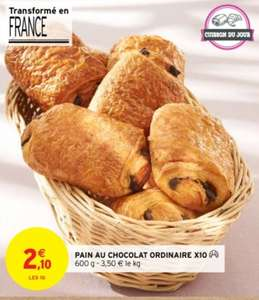 Lot de 10 pains au chocolat / chocolatines