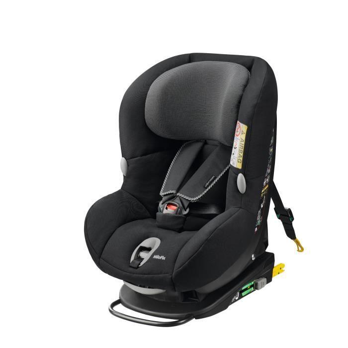 Siège Auto Bébé Confort - Groupe 0+/1, Milofix Isofix, Black Raven