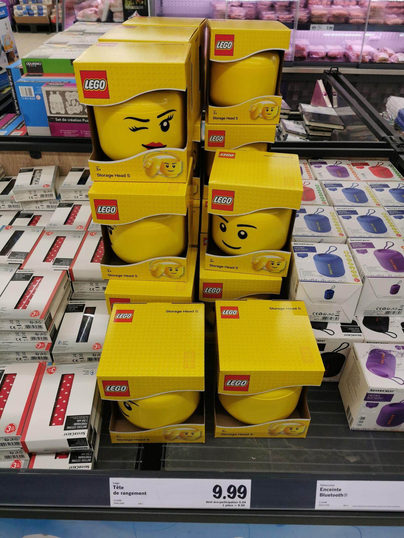 Boîte de rangement en forme de tête Lego - Auray (56)