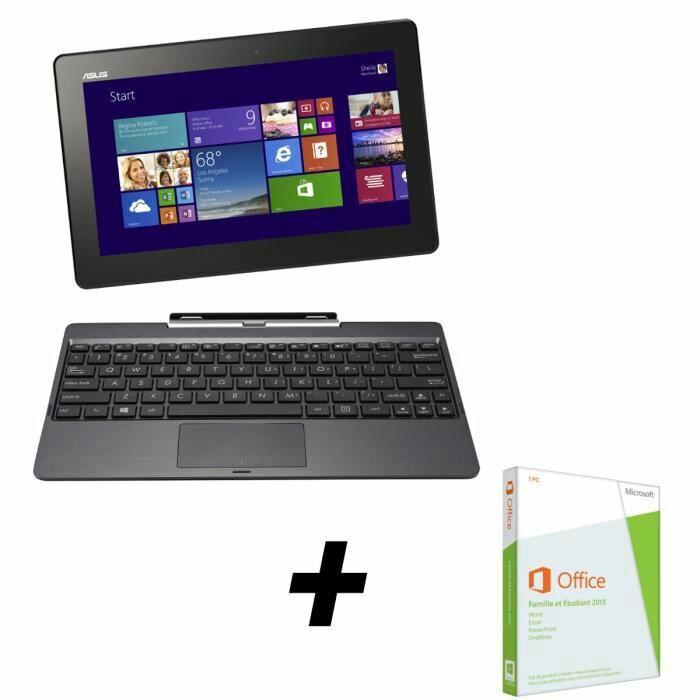 """PC Hybride 10.1"""" Asus Transformer Book PC 2-en-1 T100TA-DK002H Noir - Reconditionné"""
