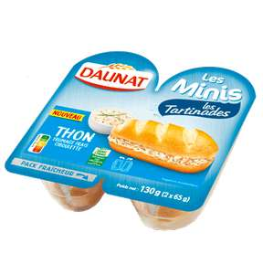 Minis tartinades Daunat - 130 g (Via BDR sur l'application)