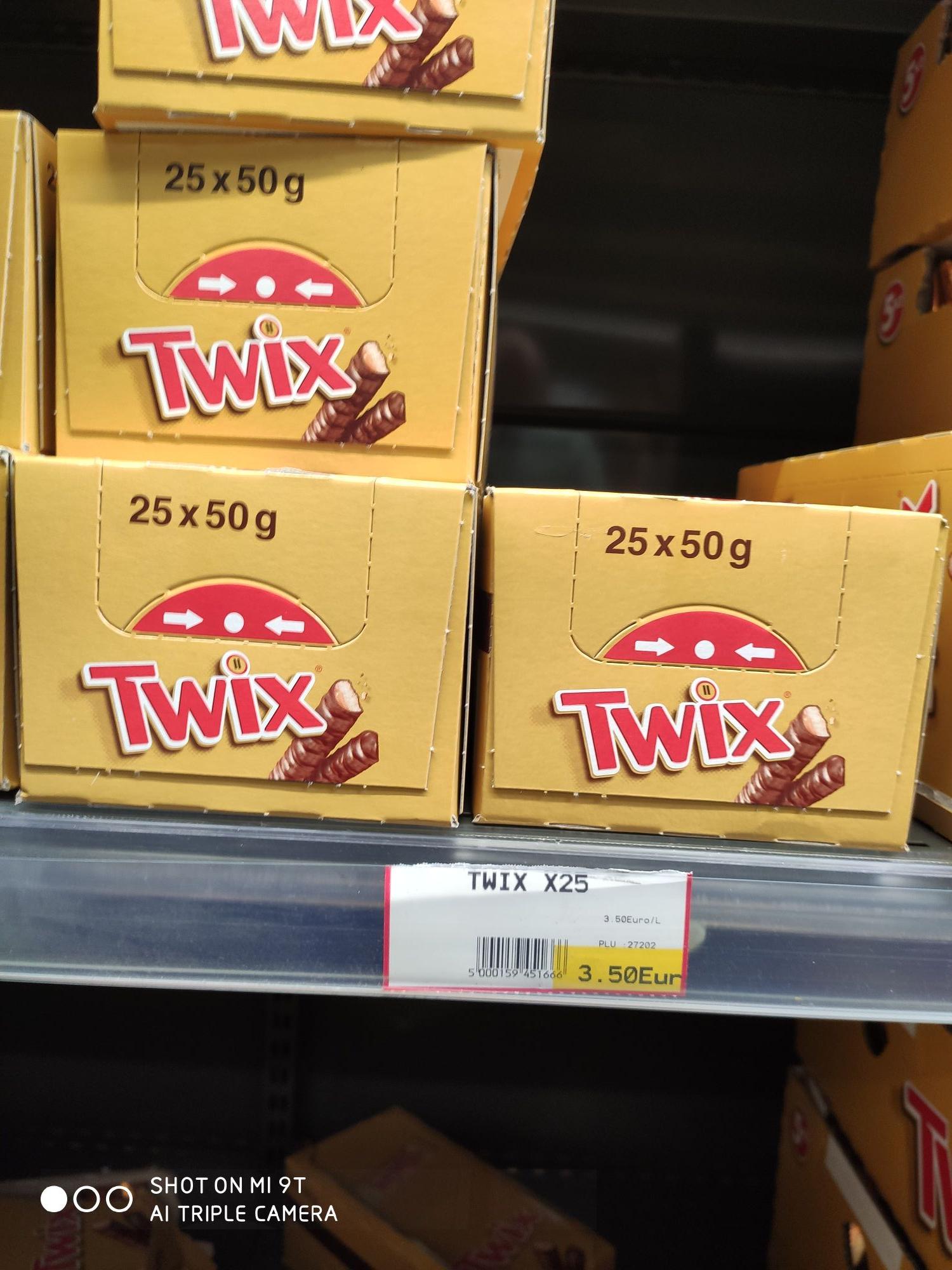 Lot de 25 sachets de Twix - O'marché Claye-Souilly (77)