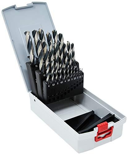 Set de 25 forets à métaux rectifiés Bosch Point TeqQ 2608577352 - 1-13mm