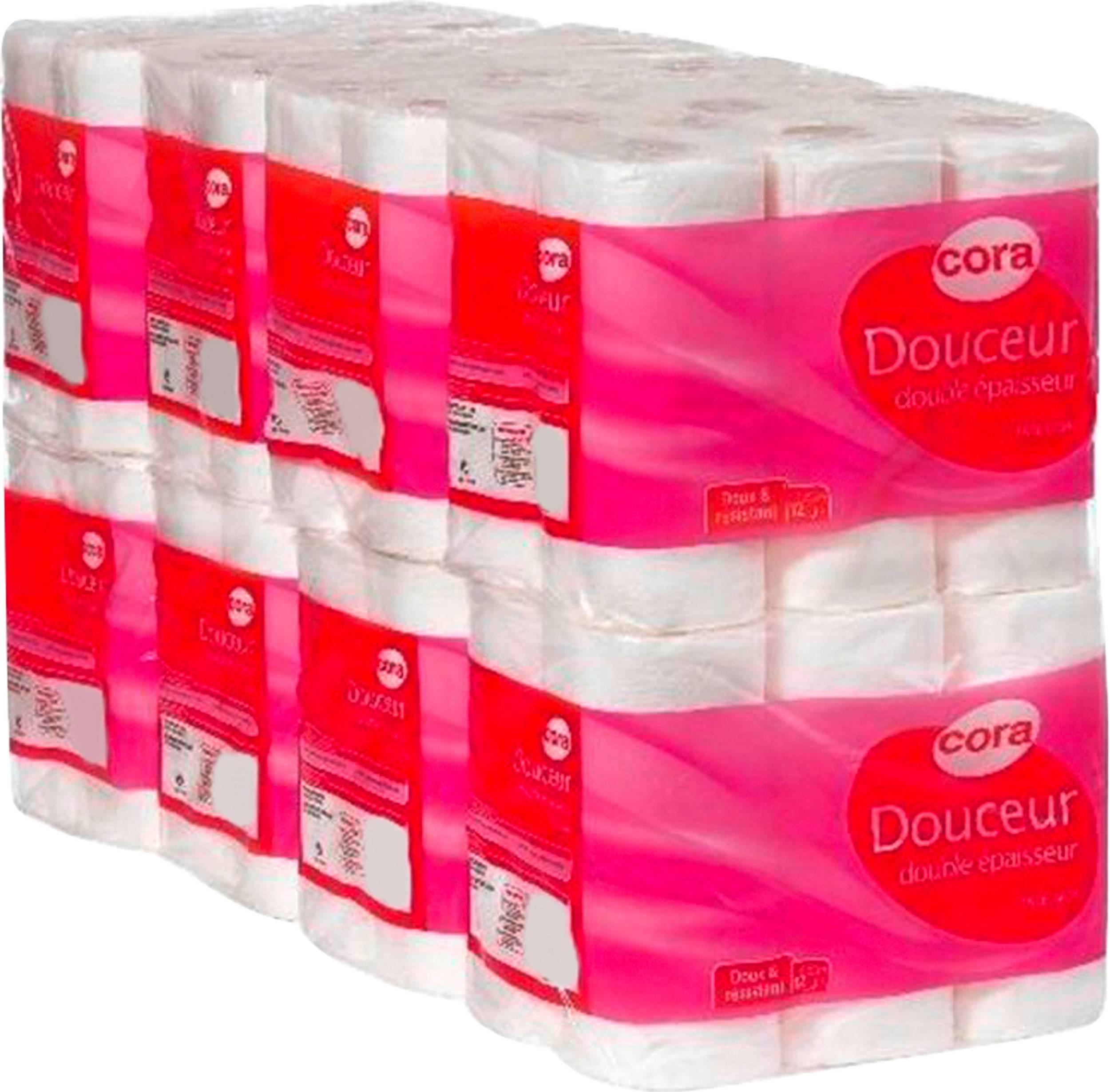 Lot de 96 Rouleaux de papier toilette Cora