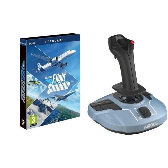 Bundle Microsoft Flight Simulator 2020 sur PC + joystick Thrustmaster TCA Sidestick Airbus Edition