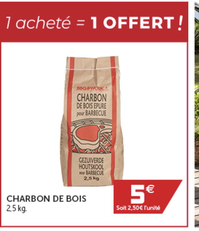 [Clients VIP] 1 Sac de Charbon achèté = 1 Sac offert, soit 2 Sacs pour 5€