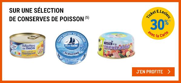 [Carte Fidélité] 30% offerts en bon d'achat sur les boissons à base de Thé et les conserves de poissons