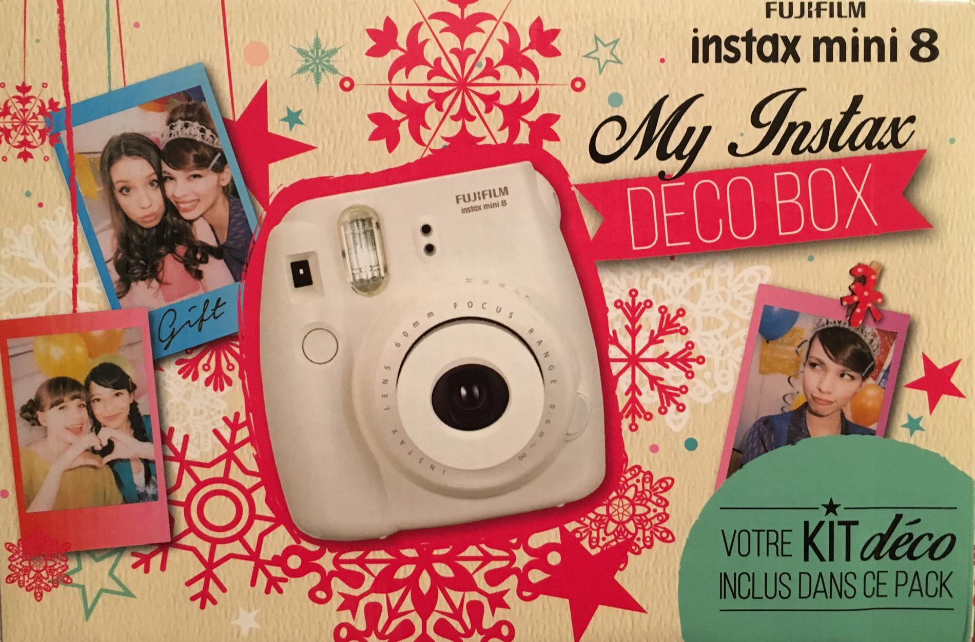 Appareil photo Fujifilm Instax Mini 8 Pack Deco Box (inclus 1 film + accessoires)