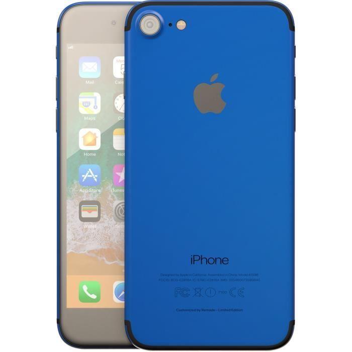 """Smartphone 4.7"""" Apple iPhone 7 (HD+, A10, 2 Go de RAM, 32 Go, bleu ou rose) - reconditionné Comme Neuf + protège-écran"""