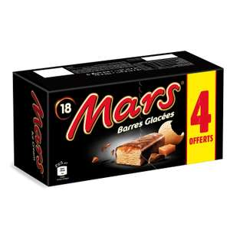 18 Barres glacées caramel Mars