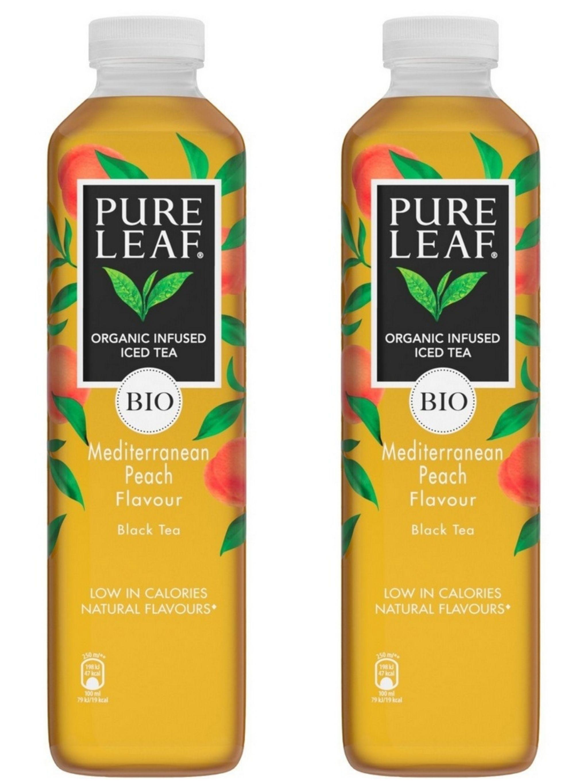 Lot de 2 bouteilles de Thé infusé glacé Pure Leaf Bio (2x1L) -Ex :Thé noir Bio saveur Pêche de Méditerranée (1,08€ sur carte fidélité + ODR)