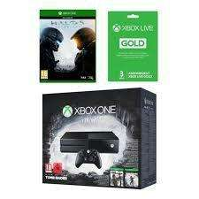Console Xbox One 1To + To Rise of the Tomb Raider + Tomb Raider Definitive Edition + Halo 5 + Abonnement Xbox Live Gold 3 mois