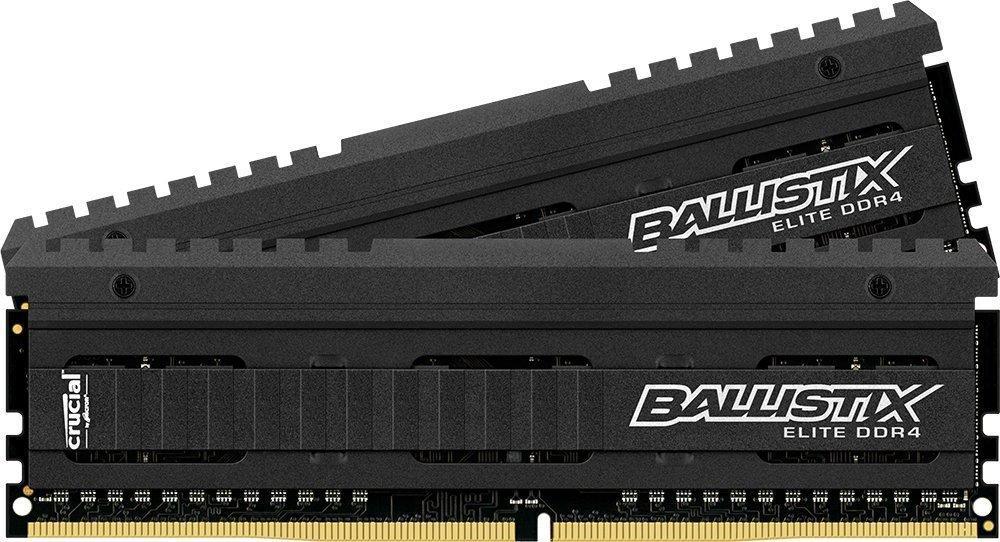 Kit mémoire 2 x 8 Go (16 Go) Crucial Ballistix Elite DDR4 2666Mhz CAS 16