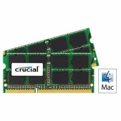 Kit Mémoire Crucial 16 Go (2 x 8 Go Ram) DDR3L 1600MHz pour Mac et PC