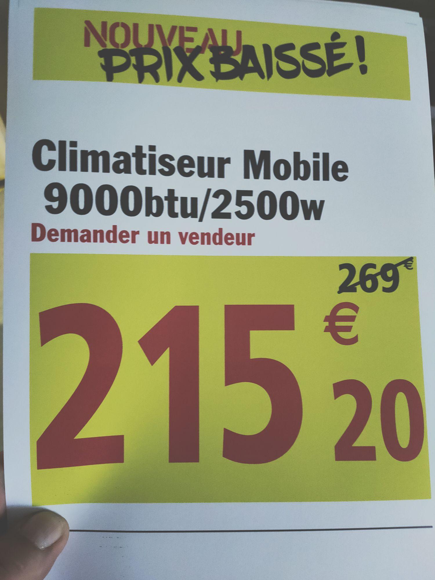Climatiseur mobile GoodHome - 9000btu/2500w (Reims 51)